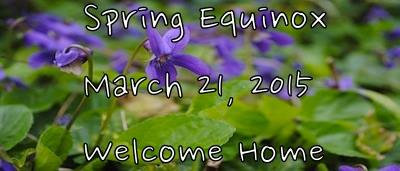 Spring Equinox, 2015 - Our Haven, French Lick, Indiana